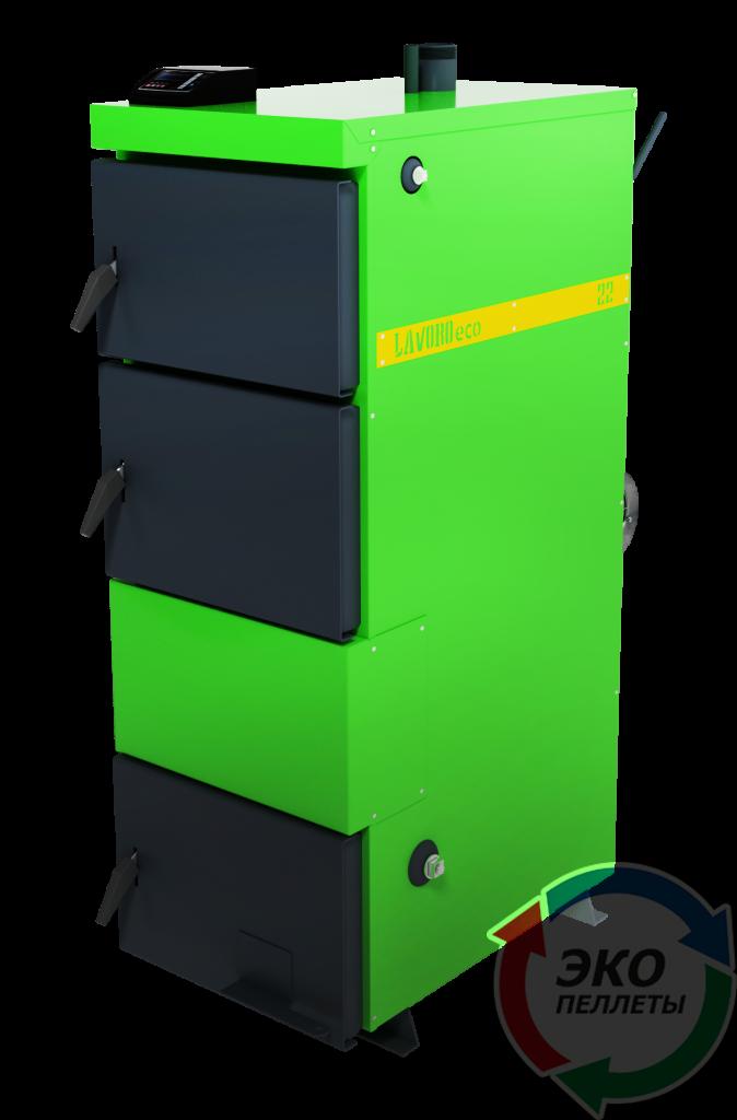 Бытовой пиролизный котел с автоматикой Lavoro (Лаворо) Eco L-22